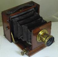 Primitive Camera Late 1890's 1/4 Plate Unknown Model