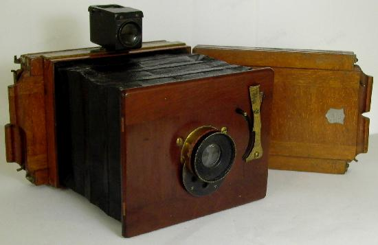 Folding Pocket Hand Camera 1890 Unknown Maker Ross Lens Fixed Focus Rotary Shutter